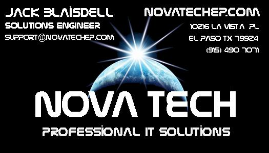 Nova tech el paso computer repair and it solutions about business card picture reheart Image collections